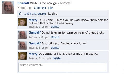 collegehumor957df3548323a74f3ad4e702f7577be3 - lord of the rings facebook status updates