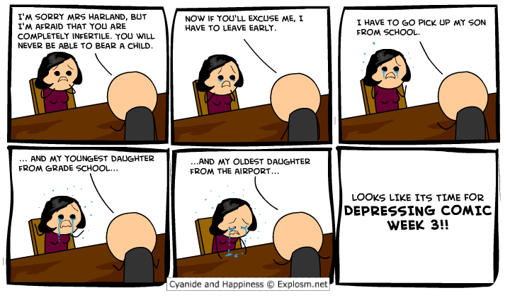 comicdepressingbiggerforrobstinycomputerthatmatcheshistinycock - cyanide and happiness depressing comic week 3 + 1 extra