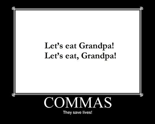 commas they save lives