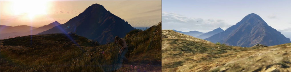 comparison between gta nextgen version