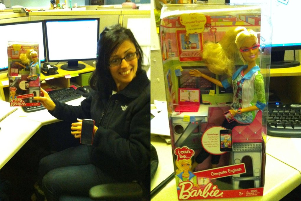 computer engineer barbie real coworker