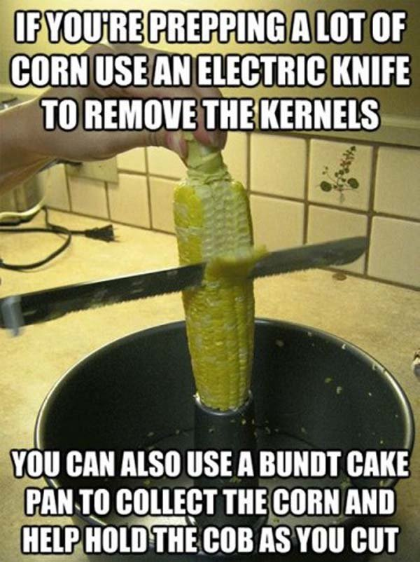 corn - these awesome food hacks will change how you eat