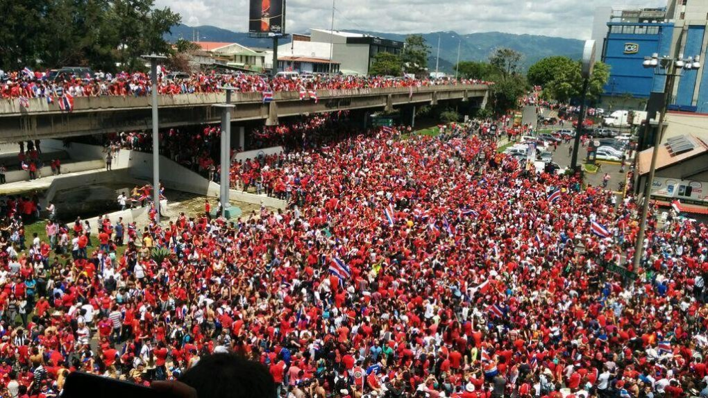 costa rica after win against italy