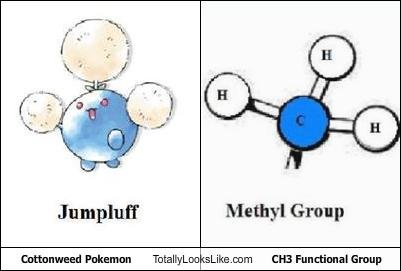 cottonweed pokemon totally looks like ch functional group