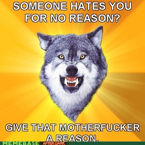 courage wolf hate
