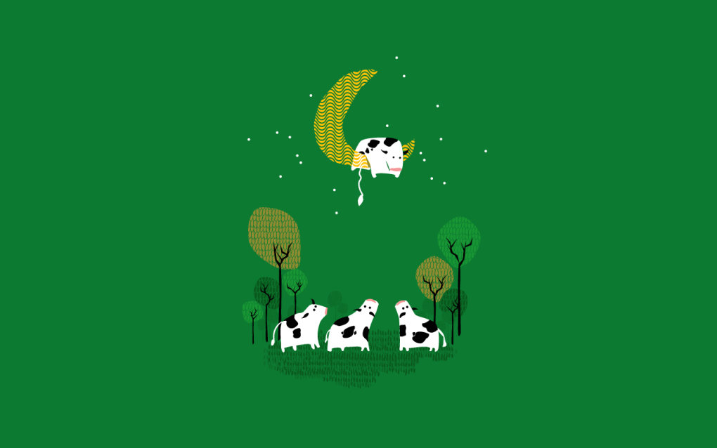 cow jumped