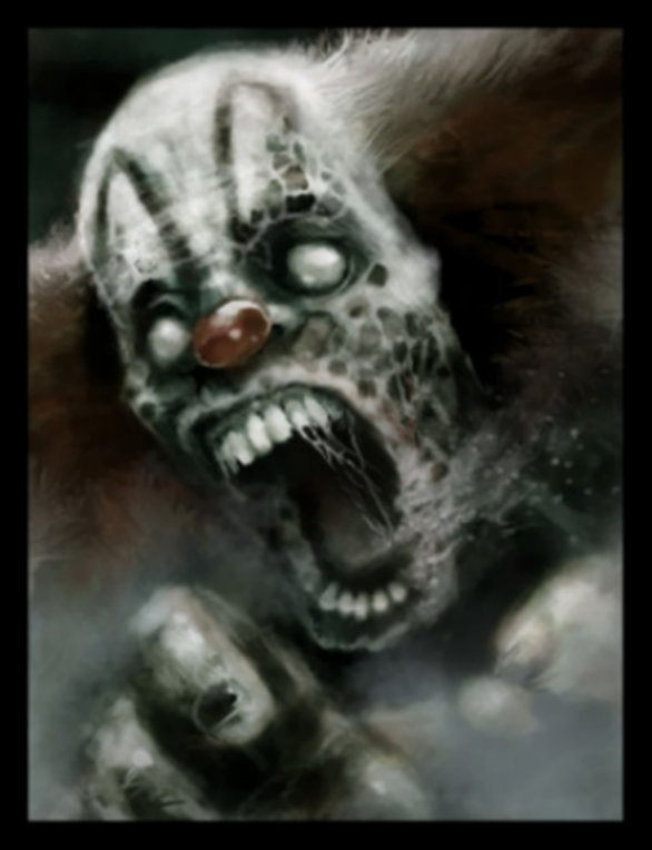 creepy clown monster face