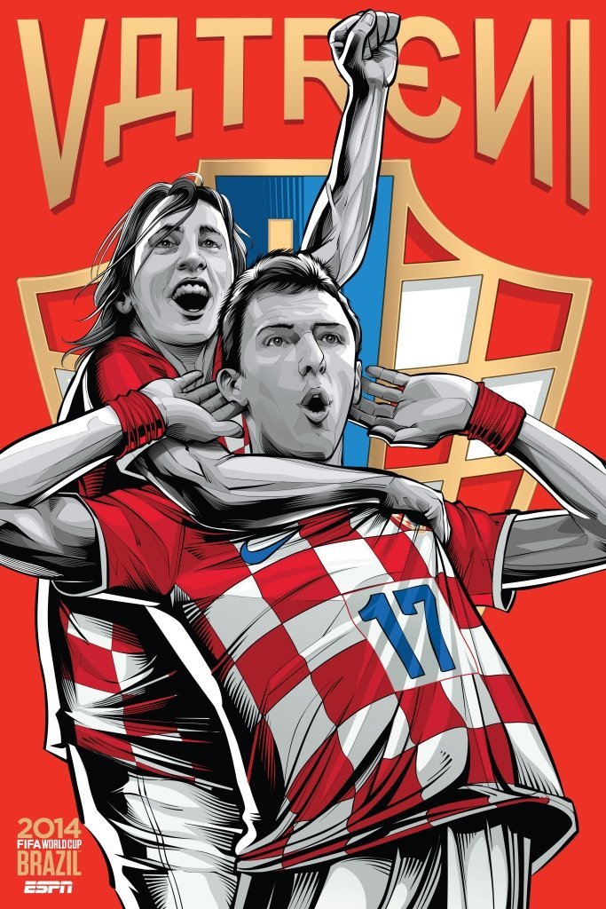 croatia - world cup 2014 team posters