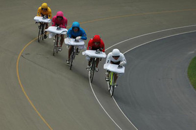 cycling extreme ironing team