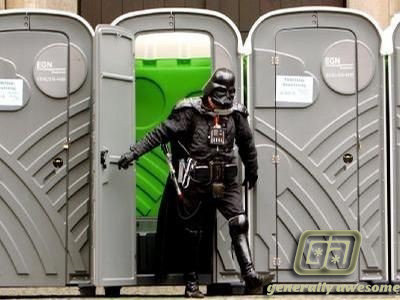 darth vader porto potty