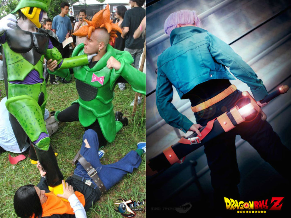 dbz cosplay future trunks cell