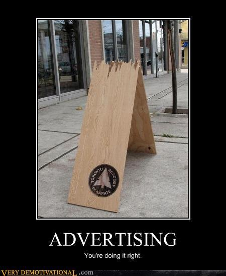 demotivational posters advertising