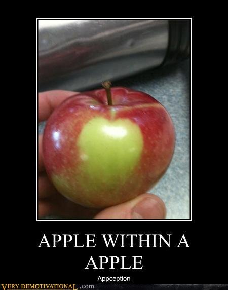 demotivational posters apple within apple