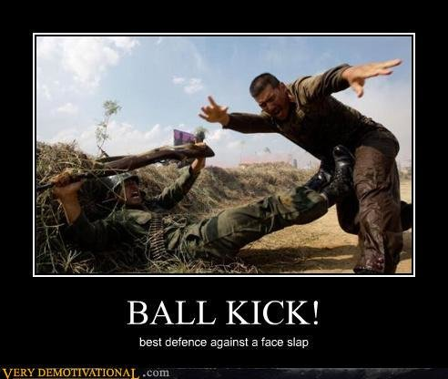 demotivational posters ball kick