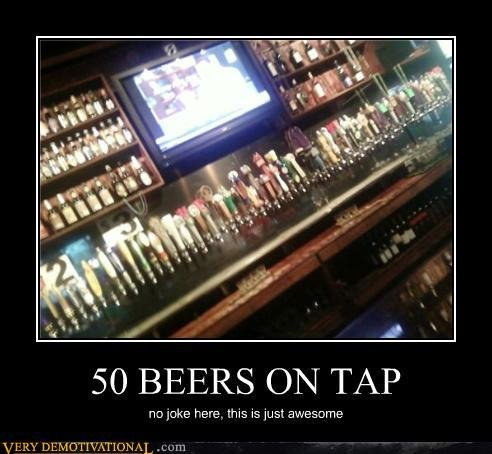 demotivational posters beers tap