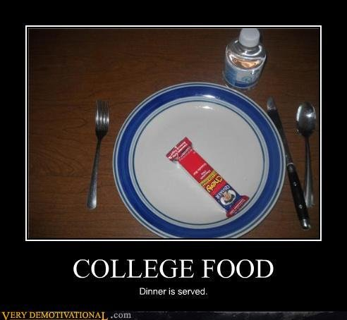 demotivational posters college food