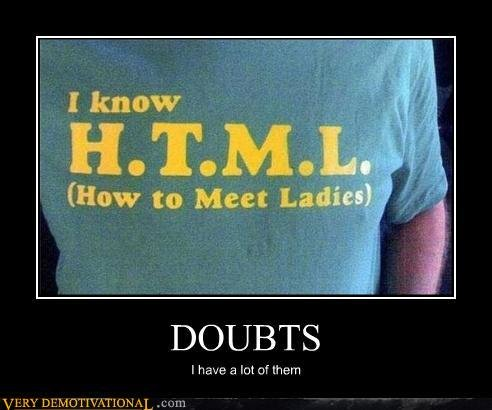 demotivational posters doubts