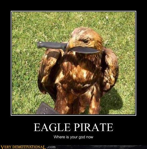 demotivational posters eagle pirate