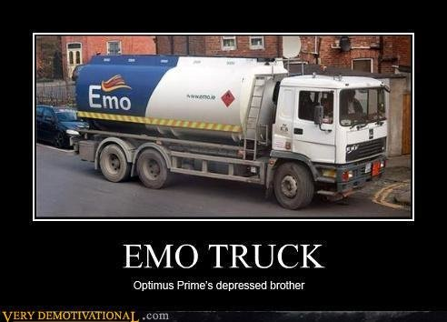 demotivational posters emo truck