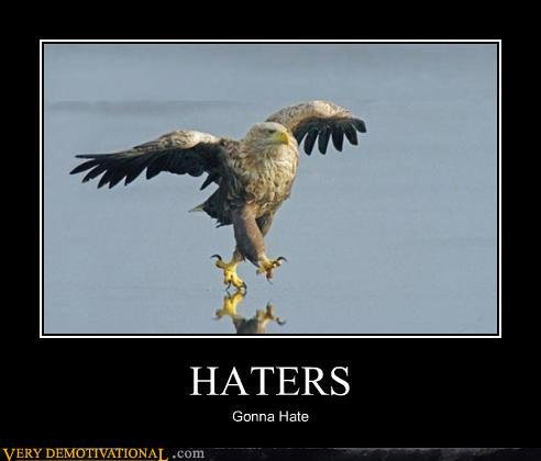 demotivational posters haters