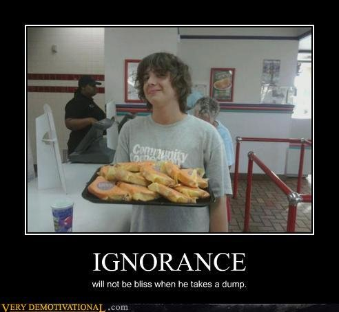 demotivational posters ignorance