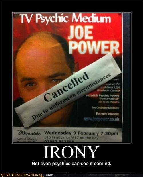 demotivational posters irony