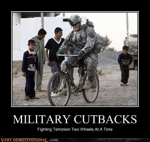 demotivational posters military cutbacks