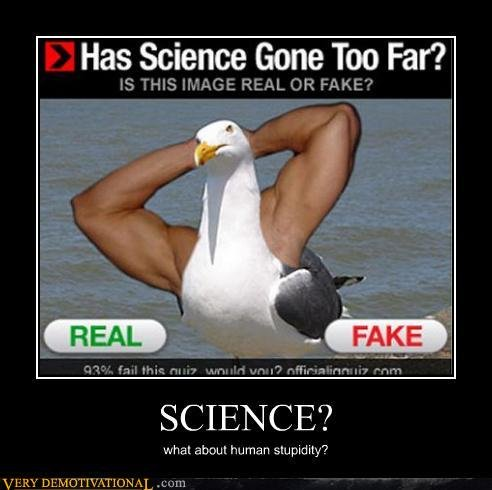demotivational posters science