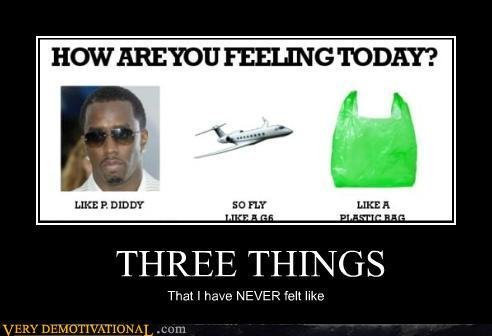 demotivational posters three things