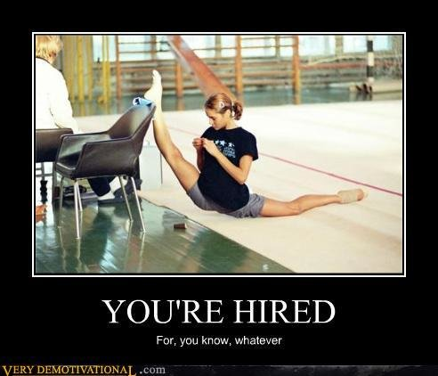 demotivational posters youre hired
