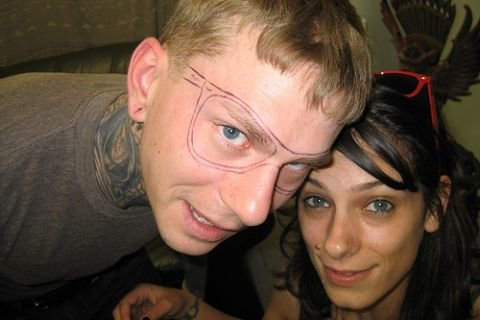 dipshit6 - eyeglasses tattoo