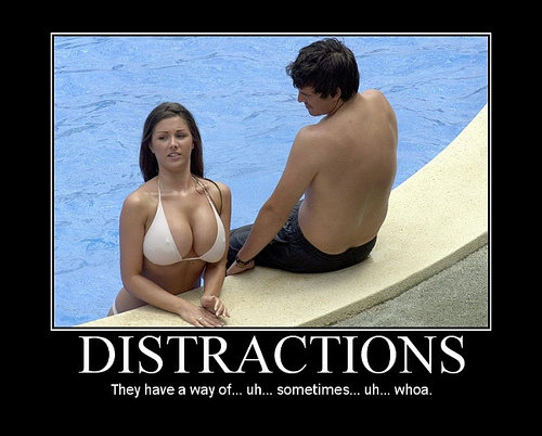 distractions - demotivational posters