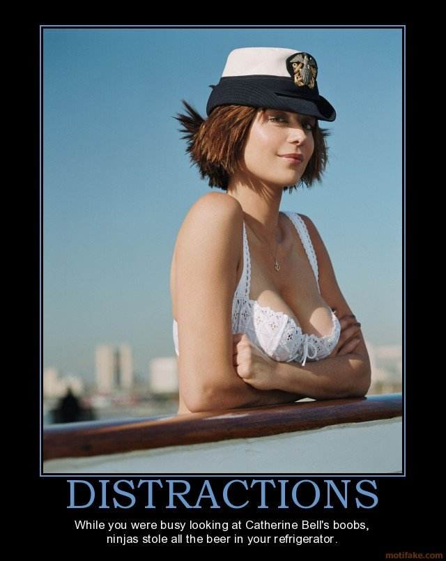 distractions dont blame youre who got distracted demotivational poster