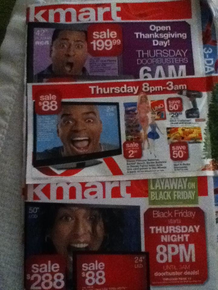 does kmart believe screaming black people sell tvs black friday