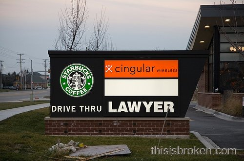 drive thru lawyer