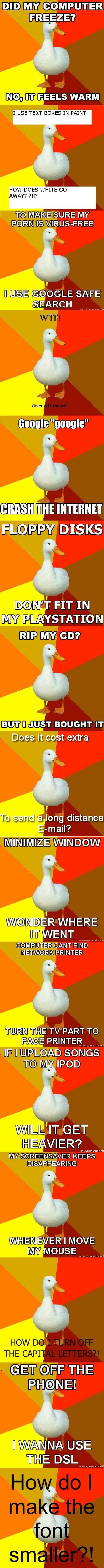 duckt - technologically impaired duck