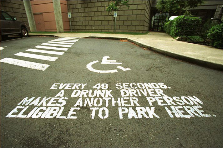 dui drunk driver disabled parking space
