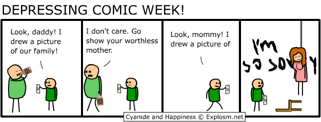 dw allalone - cyanide and hapiness depressing comic week 1