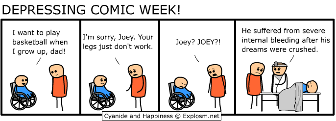 dw crusheddreams - cyanide and hapiness depressing comic week 1