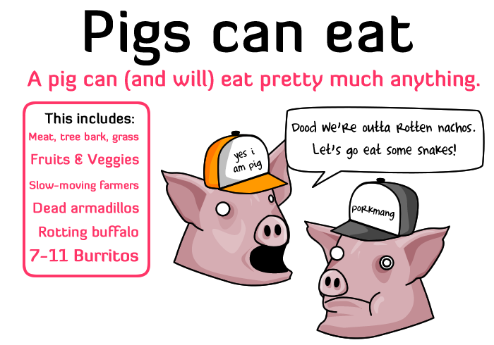 eat - today is the day pigs have wings