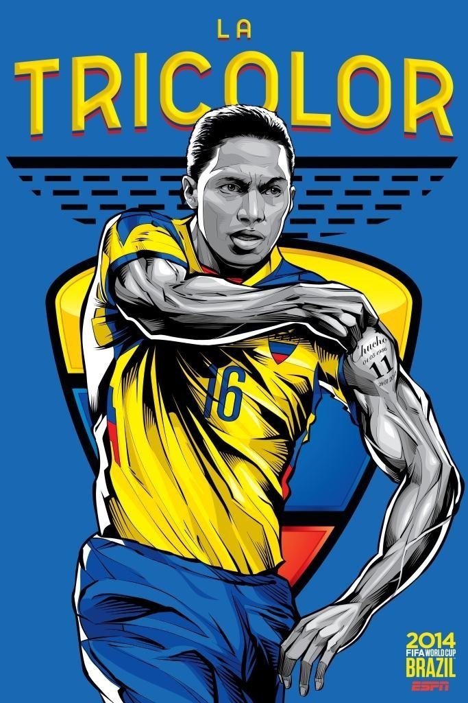 ecuador - world cup 2014 team posters