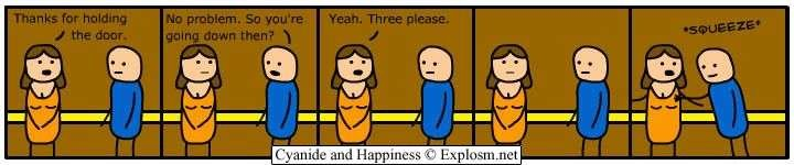 elevator - cyanide and happiness 3
