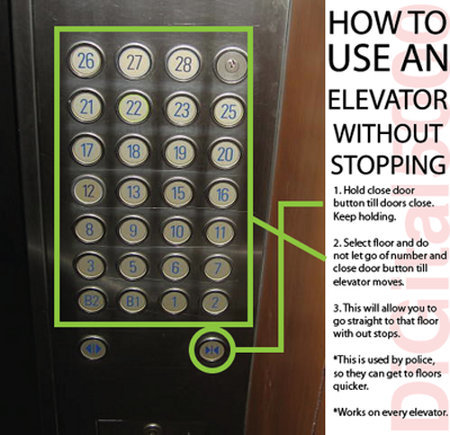 elevator without stopping