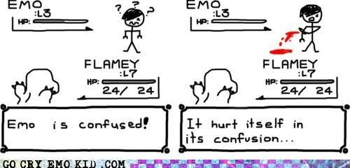 emo scene hipster thats why theyre cutters memebase