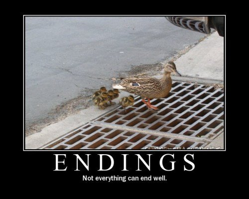 endings - demotivational posters