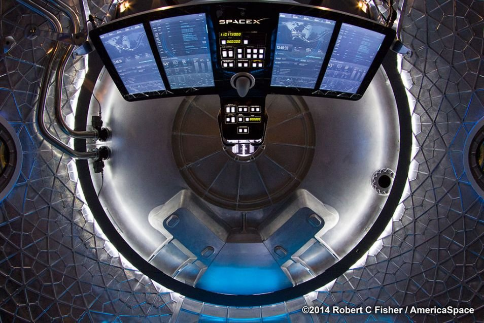 enter dragon first look inside spacexs crew transporter orbit