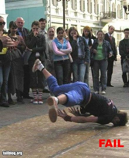 epic fail breakdance fail