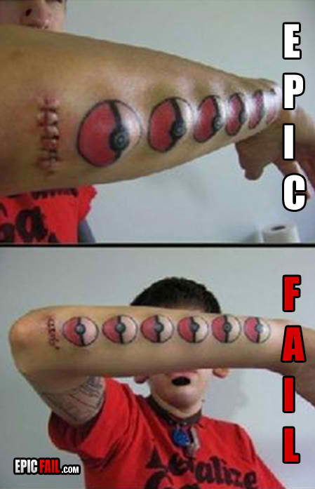 epic fail epic body modifications fail tattoo fail pokemon