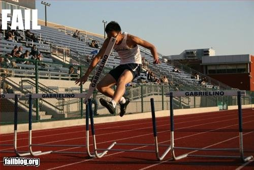 epic fail hurdle fail
