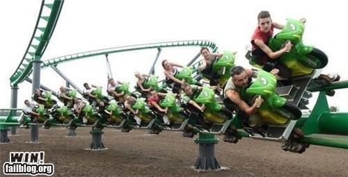 epic win photos rollercoaster win